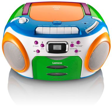 CD MP3 Player FM Radio Stereo Kassetten Spieler Kinder Musik Boombox bunt Lenco SCR-970 – Bild 3