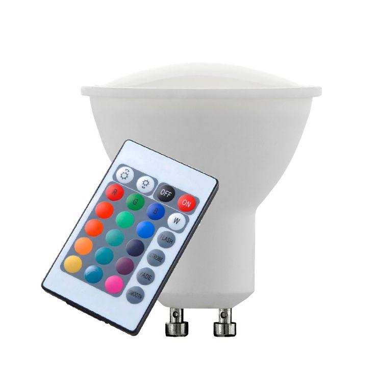 RGB LED 4 Watt Leuchtmittel Farbwechsel Dimmer GU10 Sockel Birne EEK A Eglo 10686 – Bild 4