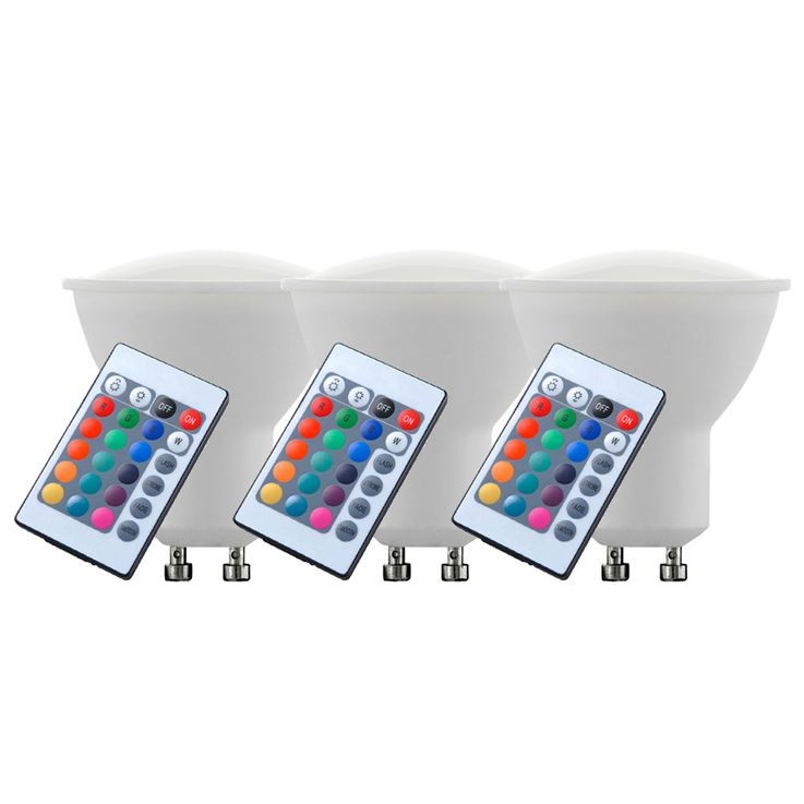 3 la valeur RGB LED ampoule 4 watts distance dimmable colorées GU10 spots EEK A Eglo 10687 – Bild 5