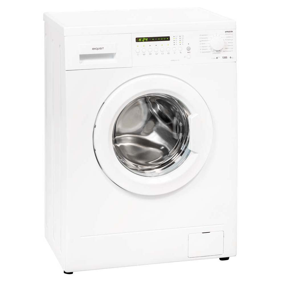 6kg Waschmaschine EEK A++ Frontloader 15 Waschprogramme AquastopExquisit WM6212-10
