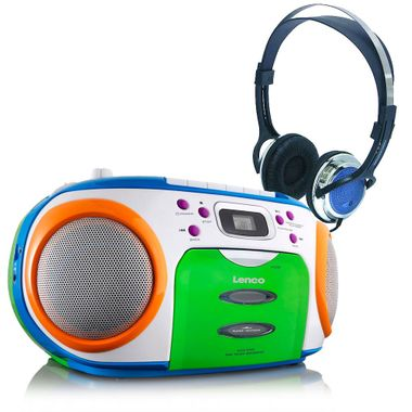 Children stereo radio MP3 boombox party music system in the set including headphones – Bild 1