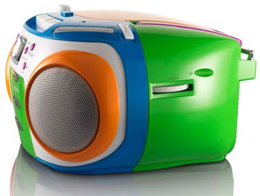 Children stereo radio MP3 boombox party music system in the set including headphones – Bild 6