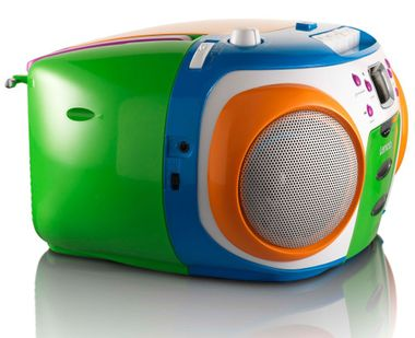 Children stereo radio MP3 boombox party music system in the set including headphones – Bild 7