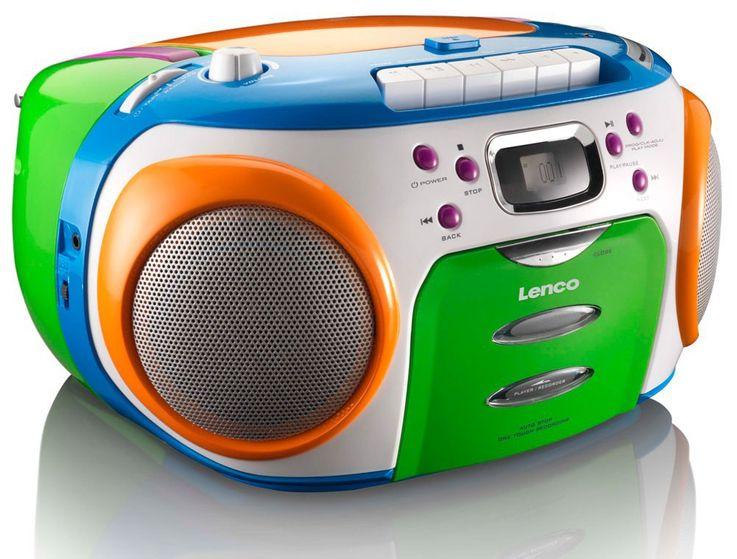Buntes CD-Radio mit Kassettendecke und Puffy Stickern – Bild 7