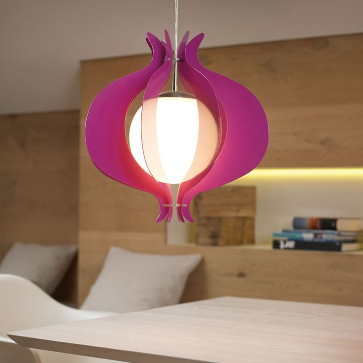 Hanging lamp pendant lamp ceiling lighting E27 glass ball Eglo 92948 purple – Bild 3