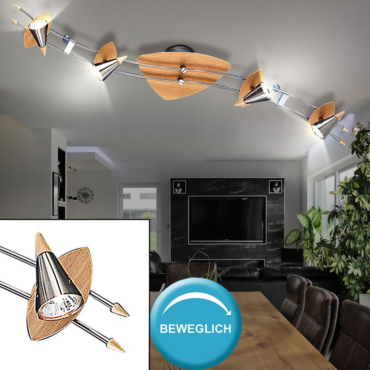 4-burner ceiling lamp with moving spots – Bild 2
