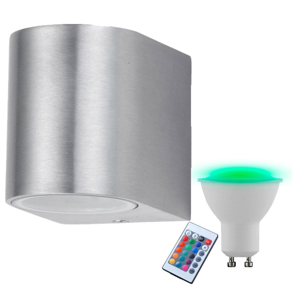Außen LED Wand Spot Lampe Leuchte ALU IP44 Beleuchtung Garten Strahler Hof Licht
