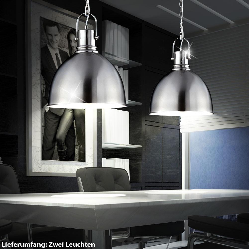 2er set industrie pendelleuchte f r ber den esszimmertisch unsichtbar lampen m bel. Black Bedroom Furniture Sets. Home Design Ideas