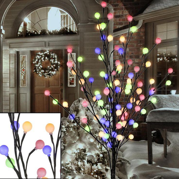 Arbre lumière 96x LED avec boules colorées, VIRIDIS – Bild 2