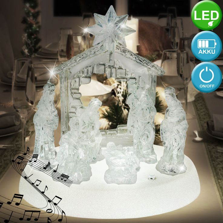 Design table lamp X-MAS crib figures music living room Christmas lamp switch clear  Globo 23246 – Bild 3