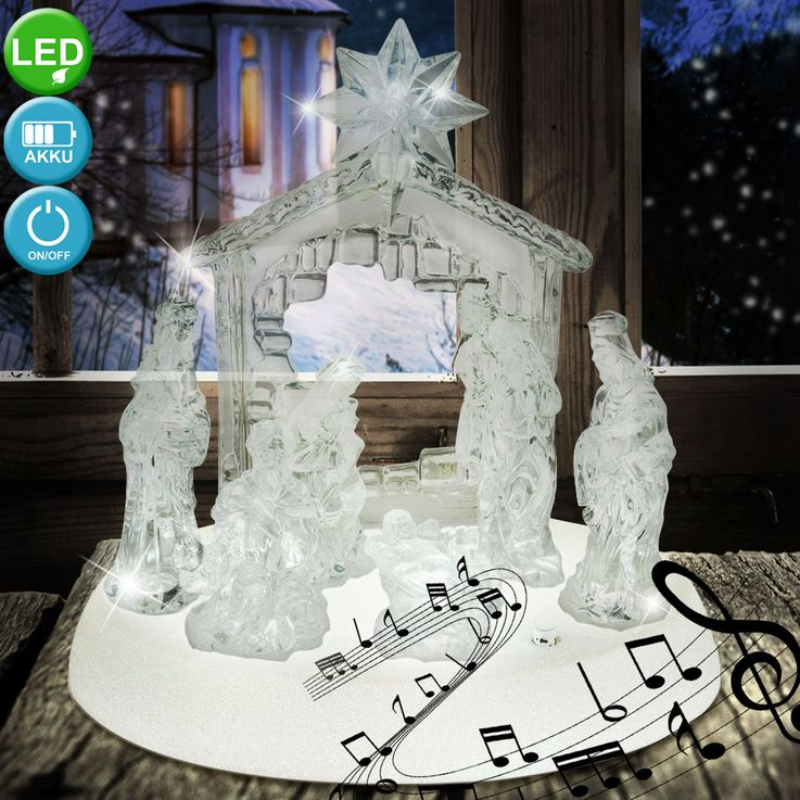 Design table lamp X-MAS crib figures music living room Christmas lamp switch clear  Globo 23246 – Bild 4