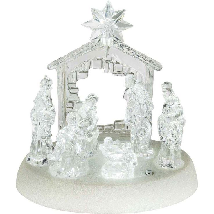 Design table lamp X-MAS crib figures music living room Christmas lamp switch clear  Globo 23246 – Bild 1