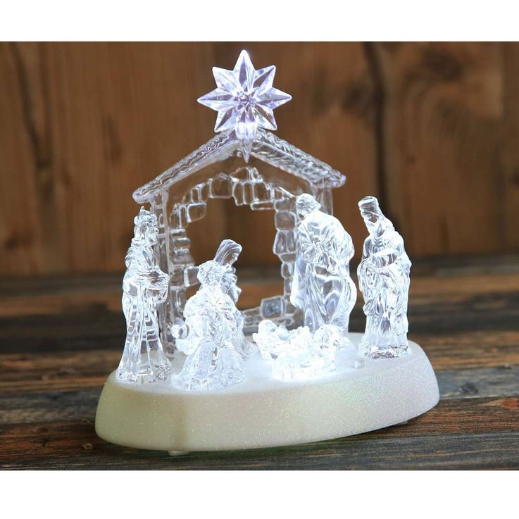 Design table lamp X-MAS crib figures music living room Christmas lamp switch clear  Globo 23246 – Bild 5