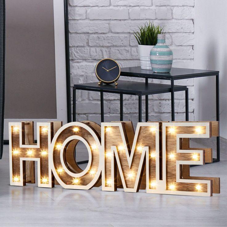 28x LED table lamp wood decoration living sleep dining room lamp HOME battery operation Globo 29975 – Bild 2