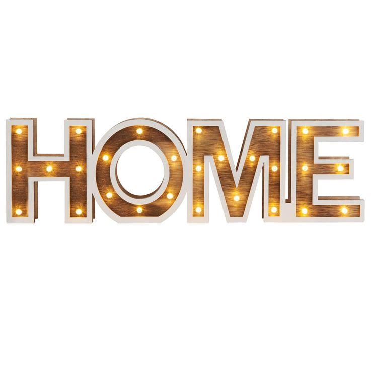 """LED Design Dekoration - Tischleuchte als """"HOME""""-Schriftzug – Bild 1"""