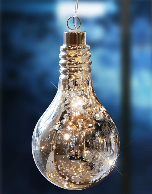 LED deco ceiling pendant light bulbs design living room battery hanging lamp silver  Globo 23238 – Bild 3