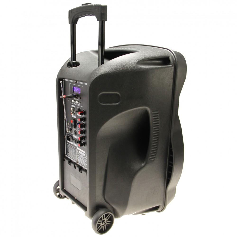 700W Mobile LED Musikanlage mit USB/SD Bluetooth und Mikro – Bild 5