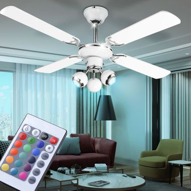 Cover fan dimmer spots moving the set the remote control included RGB LED bulb – Bild 4