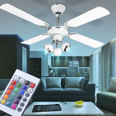 Cover fan dimmer spots moving the set the remote control included RGB LED bulb – Bild 2