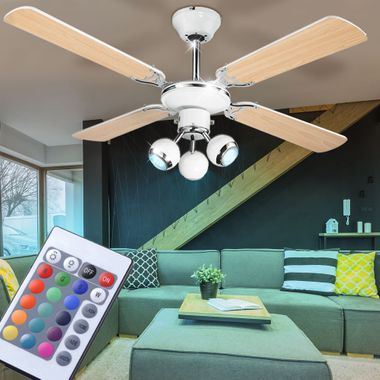Cover fan dimmer spots moving the set the remote control included RGB LED bulb – Bild 3