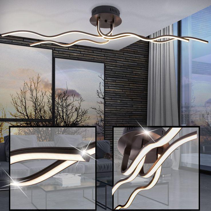 28 Watt LED Decken Leuchte Wellen Beleuchtung Wohn Zimmer Lampe geschwungen Leuchten Direkt 15126-55 – Bild 2