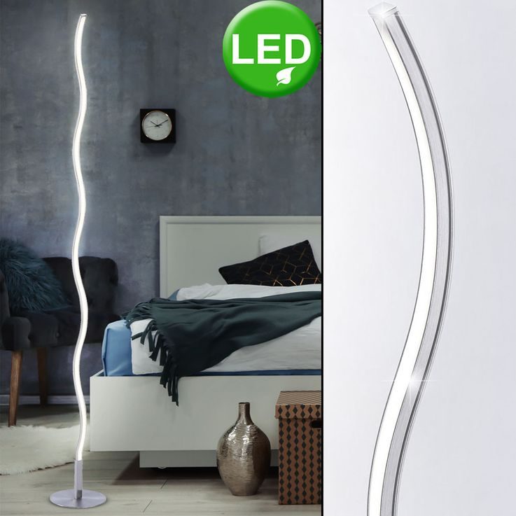 Curved LED floor lamp for your living room – Bild 2