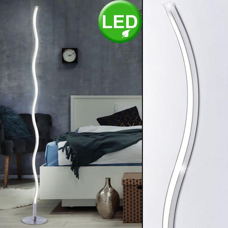 LED 12 Watt Steh Leuchte geschwungen Stand Beleuchtung Wohn Zimmer Lese Lampe Leuchten Direkt 15168-55 – Bild 2