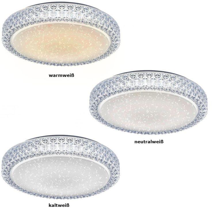 Plafonnier DEL luminaire plafond lampe LED 22 watts rond cristaux éclairage chambre – Bild 6