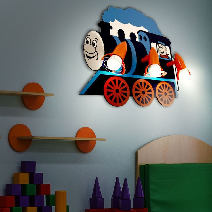 RGB LED children's room lamp in locomotive design – Bild 3