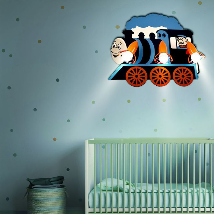 RGB LED children's room lamp in locomotive design – Bild 4