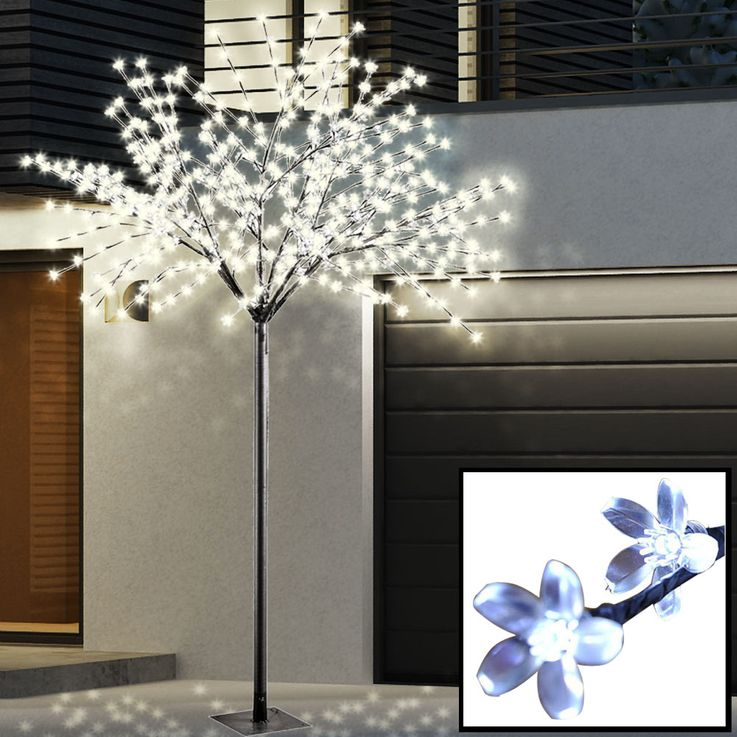 External 600 x LED Deko tree stand lamp XMAS Christmas lighting black flowers Leuchten Direkt 86130-18 – Bild 2
