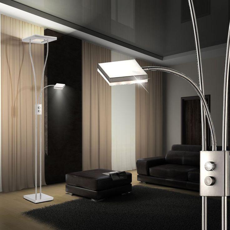 LED 33 Watt stand lamp Rotary dimmer ceiling floodlights reading lamp Leuchten Direkt 12776-55 – Bild 4