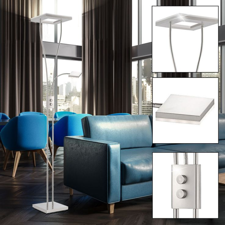 Hochwertige LED Stehleuchte mit Drehdimmer – Bild 2
