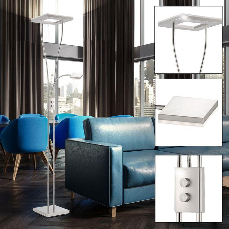 LED 33 Watt stand lamp Rotary dimmer ceiling floodlights reading lamp Leuchten Direkt 12776-55 – Bild 3