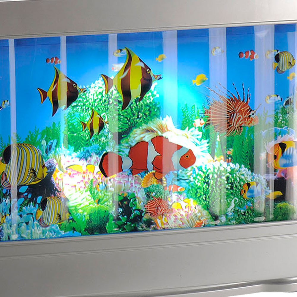 d coration clair led chambre d 39 enfants lampe de table del clairage aquarium ebay. Black Bedroom Furniture Sets. Home Design Ideas