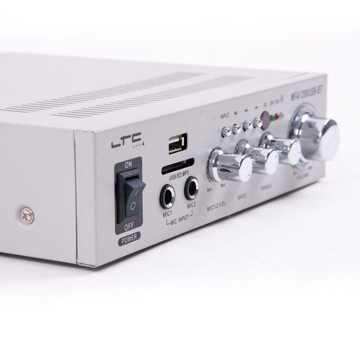 Bluetooth USB SD MP3 Verstärker Fernbedienung Funkmikrofon System DJ-Karaoke 10 – Bild 3