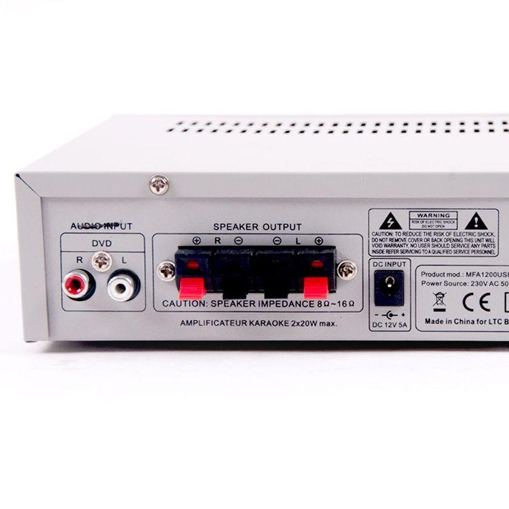 Bluetooth USB SD MP3 Verstärker Fernbedienung Funkmikrofon System DJ-Karaoke 10 – Bild 7