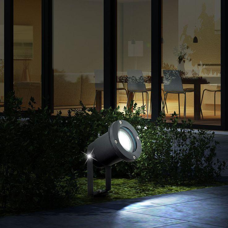 Stylish RGB LED plug lamp Aluminium-cast – Bild 4