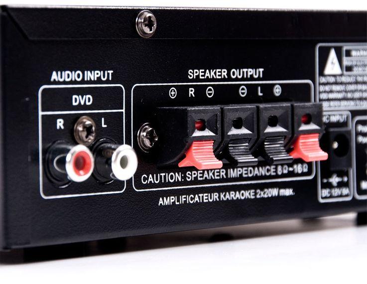 Bluetooth USB SD MP3 Verstärker Fernbedienung Funkmikrofon System DJ-Karaoke 11 – Bild 8