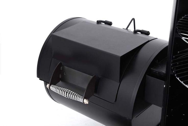 Räucher Ofen Profi Holzkohle Grill Garten Park Terrasse BBQ Smoker Metall Chrom – Bild 3