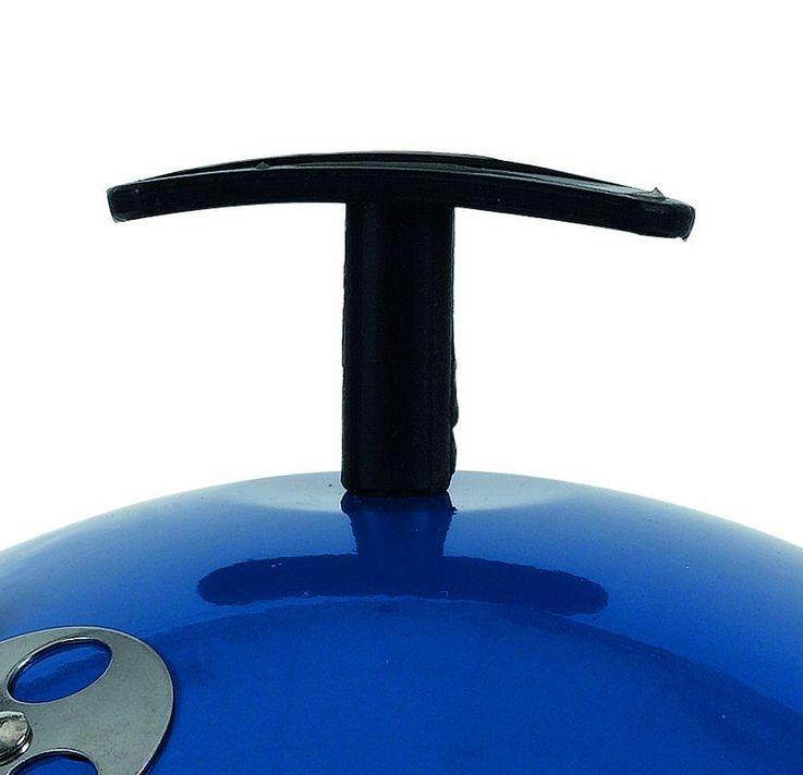 Mini Kugel Holzkohle Grill blau Garten Terrasse BBQ Camping Edelstahl Standbeine – Bild 3