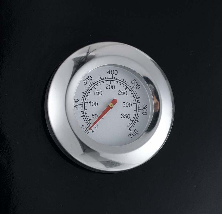 Stand Kugel GAS Grill BBQ Garten 2 Edelstahl Rundbrenner Thermometer Aromaboxen – Bild 6