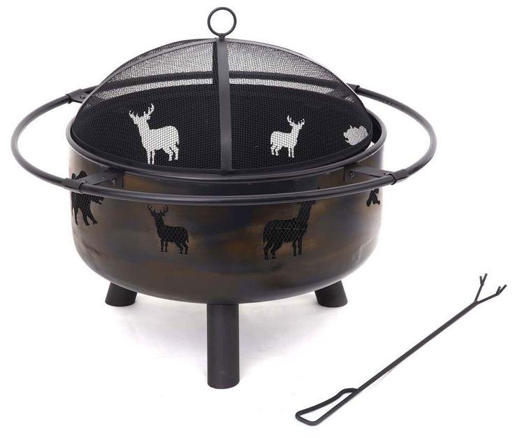 Feuerstelle Tier-Design Garten Outdoor Grill Stahl inkl. Schürhaken Camping Park – Bild 1