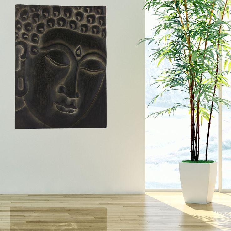 Wand Bild Wohn Schlaf Zimmer Buddha Dekoration Motiv Leinwand Holz Albasia Asia BHP B991685 – Bild 2