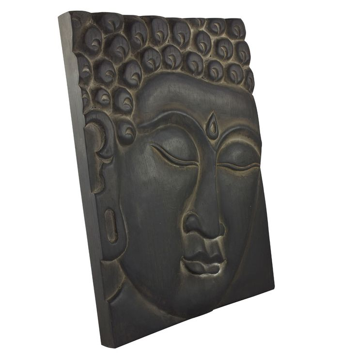 Wall Picture Living Sleep Room Buddha Decoration Motif Canvas Wood Albasia Asia BHP B991685 – Bild 3
