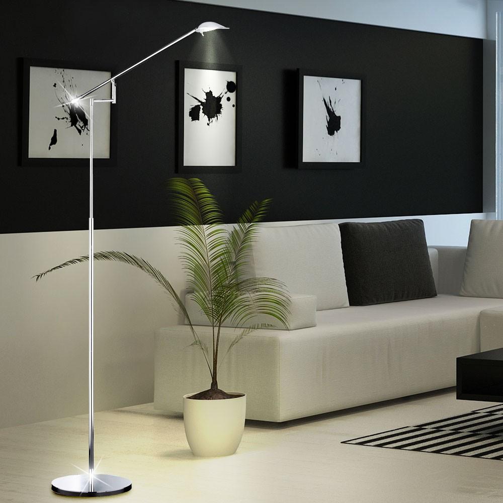 2er set led 5 watt steh leuchten schwenkbar wohn ess. Black Bedroom Furniture Sets. Home Design Ideas