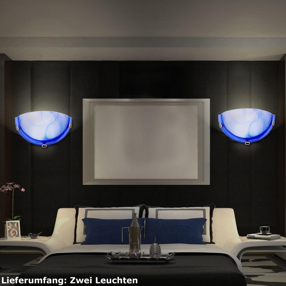 2er set 9 watt led wand lampen beleuchtung schlaf zimmer glas strahler leuchten ebay. Black Bedroom Furniture Sets. Home Design Ideas