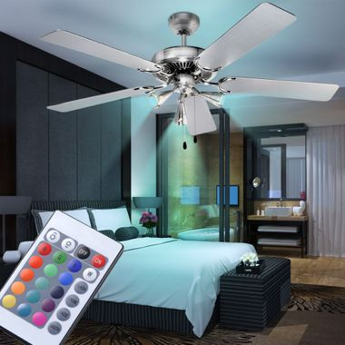 Cover fan bedroom lamp of cool remote control set including RGB LED light source – Bild 2