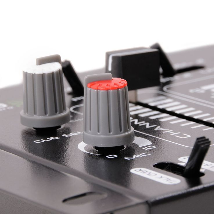 DJ PA stereo mixer USB MP3 party compact mixer 4 channel in the set included microphone – Bild 7
