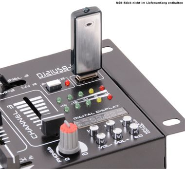 DJ 4-Kanal Mischpult PA Kompakt Effekt Mixer Kopfhörer Party Disco Equipment Audio Sound USB MP3 – Bild 8
